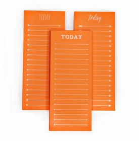 today to do note pad - neon orange