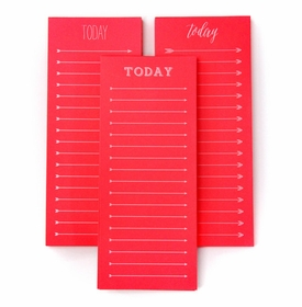 today to do note pad - neon red