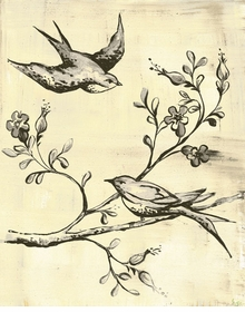 toile birdies in flight wall art