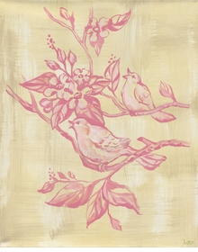 toile birdies wall art