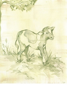 toile calf wall art