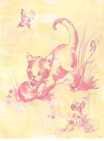 toile kitty wall art