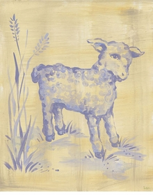 toile lamb wall art