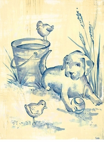 toile puppy wall art