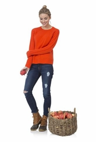 tomato red cozy for cashmere sweater