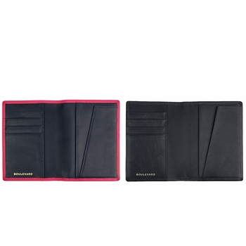 tommy leather passport holder