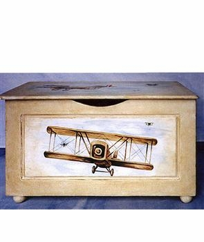 toy chest (vintage airplane)