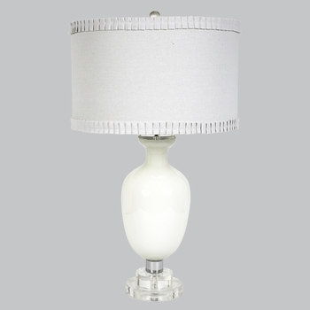 traditional white opaque lamp