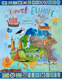 travel europe wall art