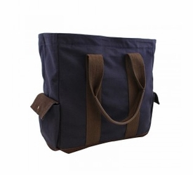 travel tote bag - navy
