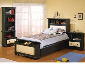 Treasures Bed with Pull Out Trundle and Nightstand