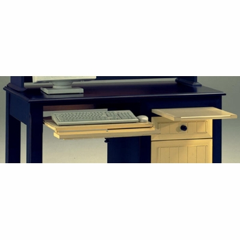 Treasures Desk Flip Down Keyboard Drawer and Pull Out Shelf