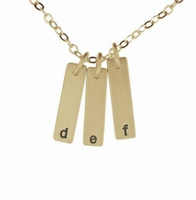 triple 14k id charm necklace