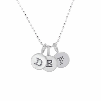 triple sterling silver charm necklace