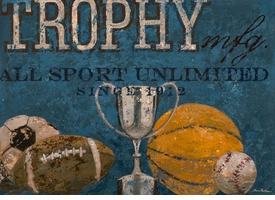 trophy mfg blue wall art - unavailable