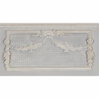 trumeau mirror - molding & caning (blue /creme)