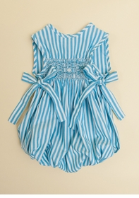 turquoise candy stripe sleeveless bubble