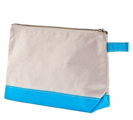 turquoise personalized  makeup bag