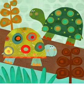 turtle pair wall art