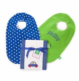 two lights trio gift set -  bibs and burp cloth