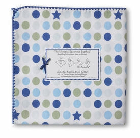 ultimate swaddling blanket by swaddle designs - blue stars