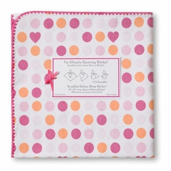 ultimate swaddling blanket by swaddle designs - fuschia hearts