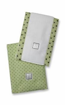 ultimate swaddling blanket by swaddle designs - lime with brown dots