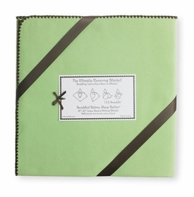 ultimate swaddling blanket by swaddle designs - lime with brown trim