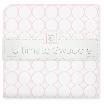 ultimate swaddling blanket by swaddle designs - pink mod on white