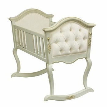 upholstered cradle with applique by art for kids