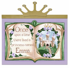 upon a time storybook lovely lavender-c personalized wall hanging