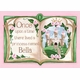 upon a time storybook princess pink-r personalized wall hanging