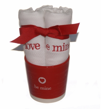 valentine's burp set with container