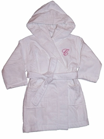 velour hooded children's bathrobe