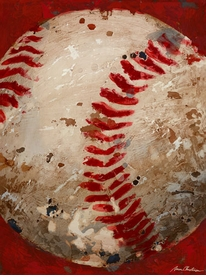 vintage baseball (blue or red) wall art - unavailable