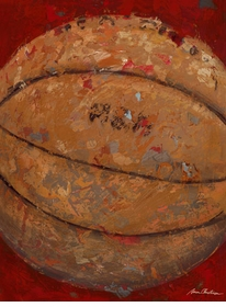 vintage basketball (blue or red) wall art - unavailable