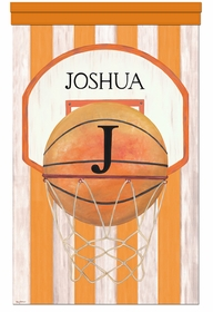 vintage basketball slam dunk orange personalized wall hanging