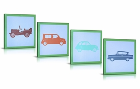 vintage cars (set of 4)