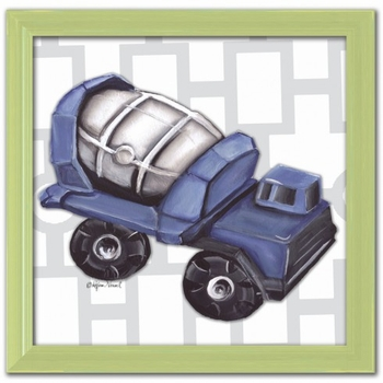 vintage cement mixer wall art