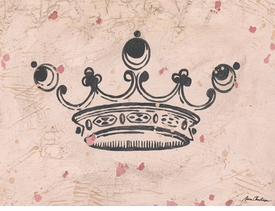 vintage crown charcoal wall art - unavailable