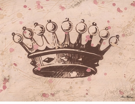 vintage crown chocolate wall art - unavailable