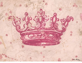 vintage crown pink wall art - unavailable