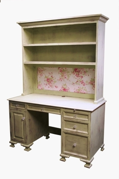 vintage desk and hutch
