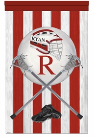 vintage lacrosse rack it red personalized wall hanging