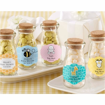 vintage milk bottle baby favors <br>(set of 24)