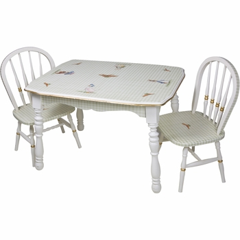Vintage Play Table and Chair Set - Enchanted Forest