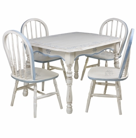 Vintage Play Table and Chair Set - Toile