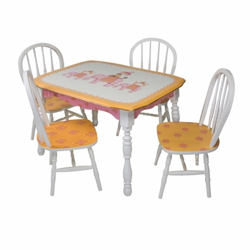 vintage play table & chair set - elephants on parade