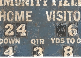 vintage scoreboard  - football wall art - unavailable