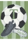 vintage soccer goal green personalized wall hanging